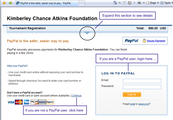 PayPal Page Example
